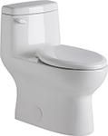 "Gerber 21-019 Avalanche Ct 1.28gpf One-Piece Toilet Ada Elongated 12"" Rough-In (White)"