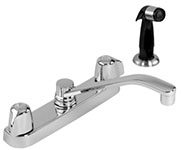 "Gerber 42-506 Gerber Classics Two handle Kitchen Faucet Deck Plate Mounted W/ Spray & 8"" D-Tube Spout 2.2gpm (Chrome)"