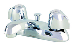 Gerberb 43-431 Gerber Classics 2 handle Centerset Lavatory Faucet W/ Metal Handles Less Drain W/ Pop-Up Hole & Stay 1.5gpm (Chrome)