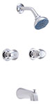 Gerber 58-400 Gerber Hardwater Two Handle Threaded Escutcheon Tub & Shower Fitting With Threaded Diverter Spout (2.0gpm)