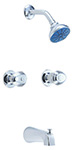 Gerber 58-420 Gerber Hardwater Two Handle Sliding Sleeve Escutcheon Tub & Shower Fitting With Threaded Diverter Spout (2.0gpm)